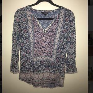 Printed Lucky Brand Top Shirt